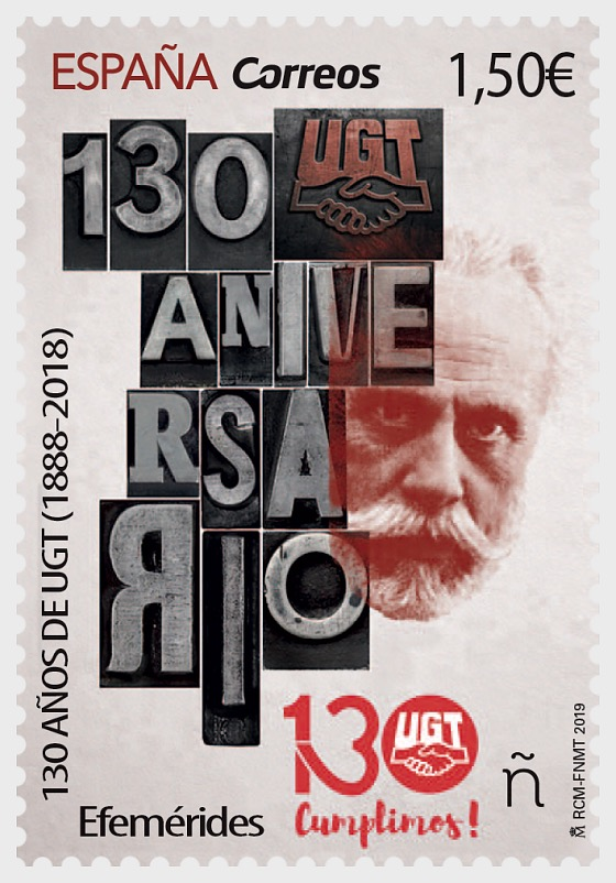 Anniversaries, 130 Years of the UGT (1888–2018) - Set CTO