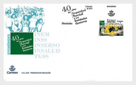 40 Years of the Social Security Managing Bodies - First Day Cover