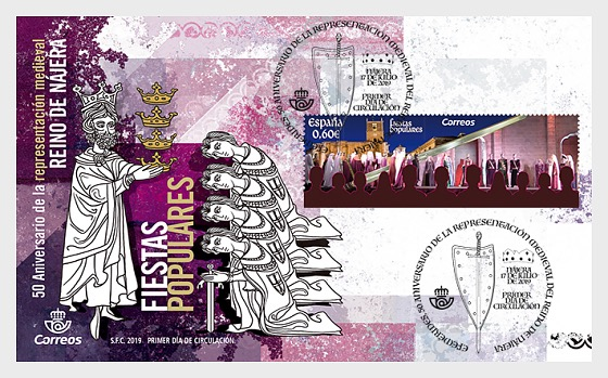 50th Anniversary of the Medieval Representation of the Kingdom of Najera - First Day Cover