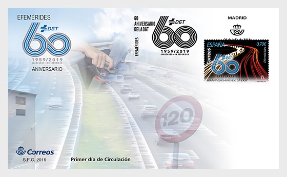 60th Anniversary of the DGT - First Day Cover