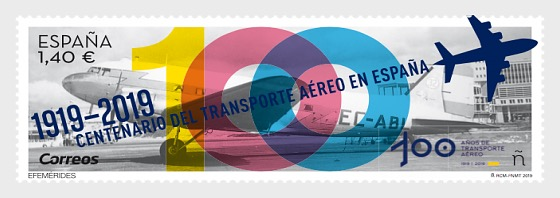 Anniversaries, Centenary of Air Transport in Spain (1919-2019) - Set
