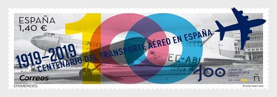 Anniversaries, Centenary of Air Transport in Spain (1919-2019) - Set CTO
