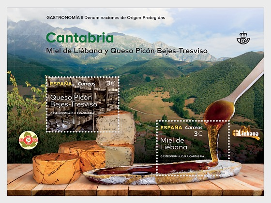 Cuisine, Protected Designations of Origin of Cantabria - Miniature Sheet