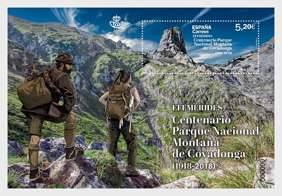 Anniversaries, Covadonga Mountain National Park Centenary - Miniature Sheet