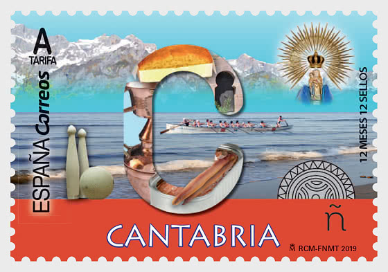 12 Months, 12 Stamps - Cantabria - Set