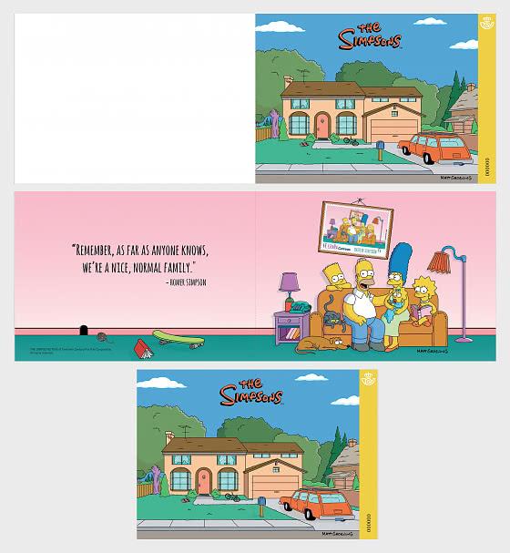 The Simpsons - Miniature Sheet