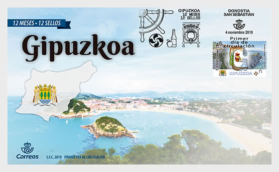 12 Months, 12 Stamps - Gipuzkoa - First Day Cover