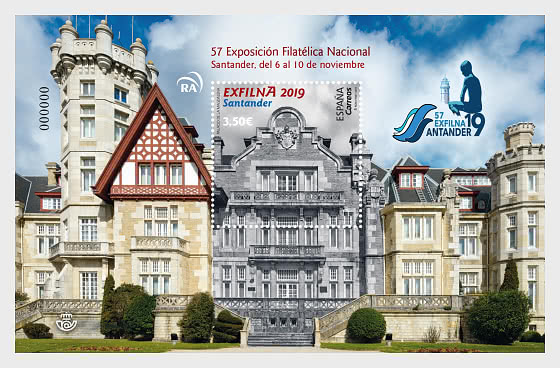 EXFLINA 2019, Santander - Miniature Sheet