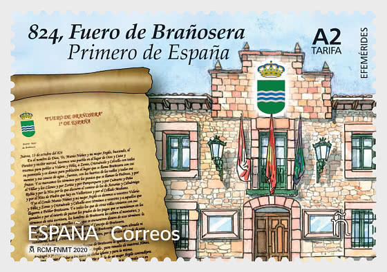 Efemérides - 824, Fuero de Brañosera, Primero de España - Series