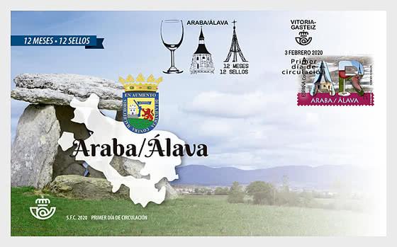 12个月,12枚邮票 - Araba/Álava - 首日封