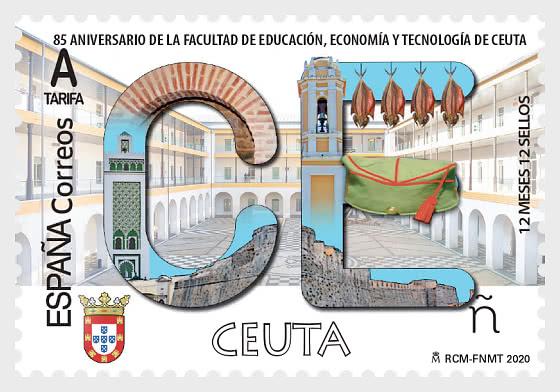 12 Months, 12 Stamps - Ceuta - Set