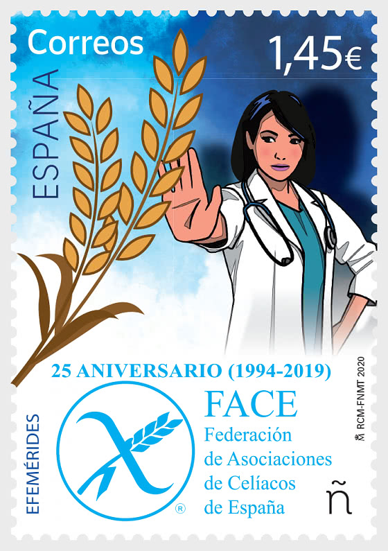 25th Anniversary of the Spanish Federation of Coeliac Associations (Face) - Set