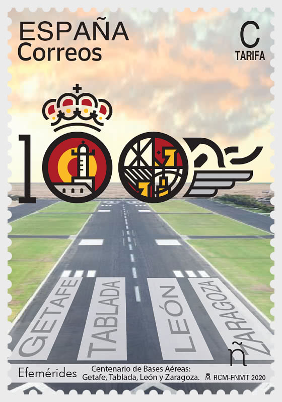 Anniversaries - Centenary of Spanish Airbases, Getafe, Tablada, Leon & Zaragoza - Set