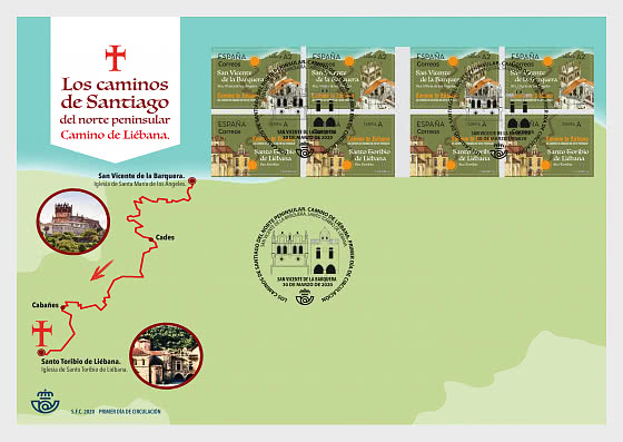 The Routes of St. James, Way in Northern Spain - First Day Cover