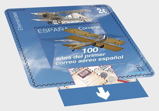 100 Jahre der ersten spanischen Luftpost - Serie