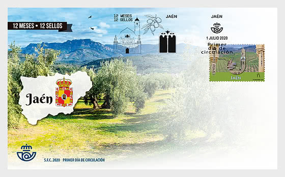 12 Months 12 Stamps - Jaen - First Day Cover
