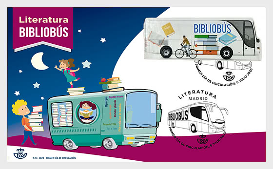 The Bookmobile - First Day Cover