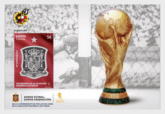 Centenary Of The Spanish National Football Team - Mint - Miniature Sheet
