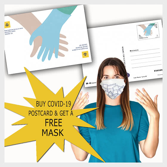 Buy COVID-19 Postcard & get a FREE mask - Collectibles