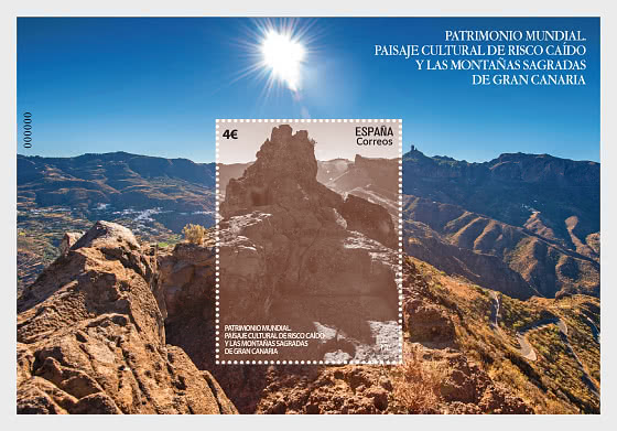 World Heritage - Risco Caído And Sacred Mountains of Gran Canaria - Mint - Miniature Sheet