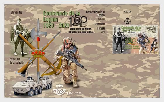 Centenario de la Legión Española 1920-2020 - Sobre de Primer Dia