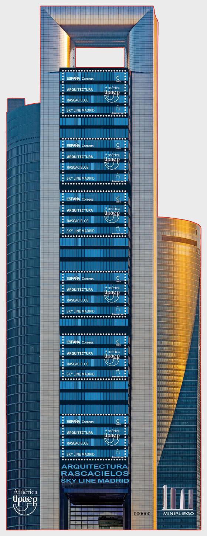Amerika UPAEP. Architektur - Wolkenkratzer Skyline Madrid - Bogenserie
