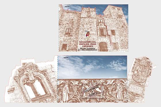 EXFILNA 2020 - Cáceres - 小型张
