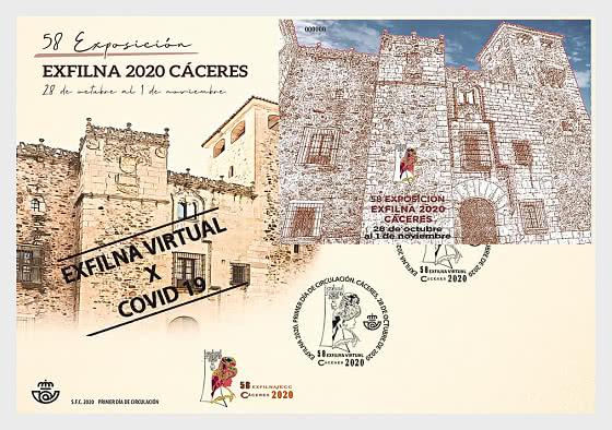 EXFILNA 2020 - Cáceres - 首日封