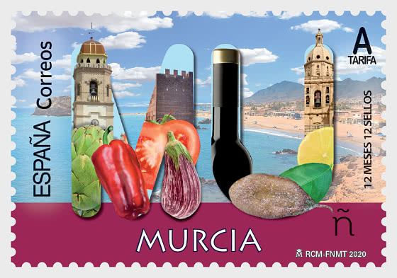 12 Months 12 Stamps - Murcia - Mint - Set