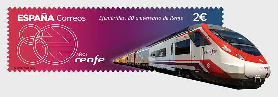 RENFE 80周年 - 套票