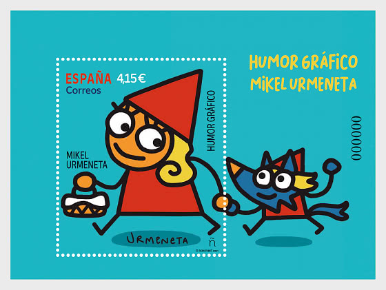 Graphic Humour - Mikel Urmeneta - Mint - Miniature Sheet