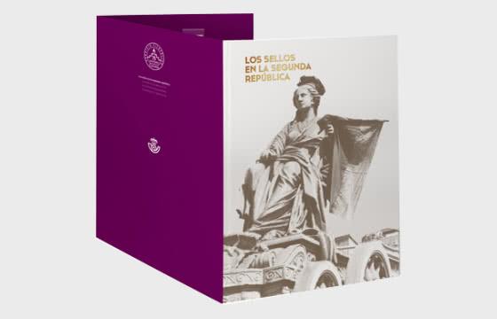 Dossier de timbres Deuxième République espagnole - Collectable