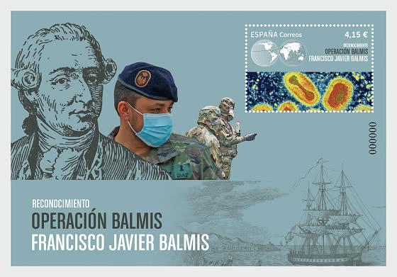 Opération Balmis et Francisco Javier de Balmis et Berenguer (1753-1819) - Blocs feuillets