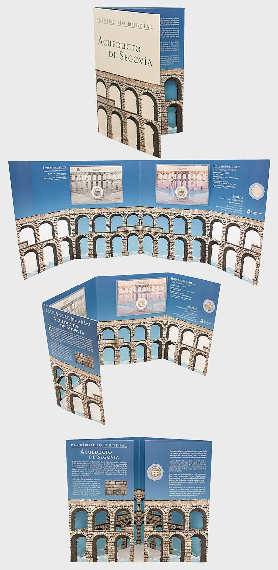 10% DISCOUNT - World Heritage - Segovia Aqueduct Coin Card - Coin Card