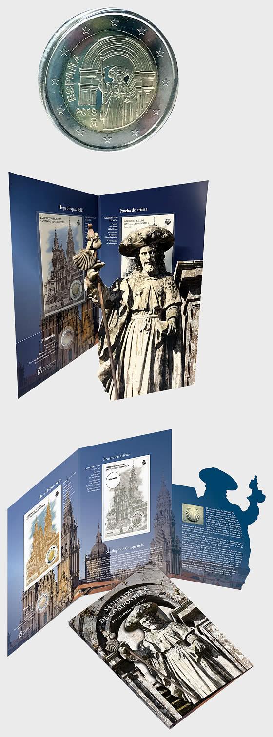 10% DE RÉDUCTION - Héritage du monde - Saint Jacques de Compostelle Carte de monnaie - Carte de monnaie