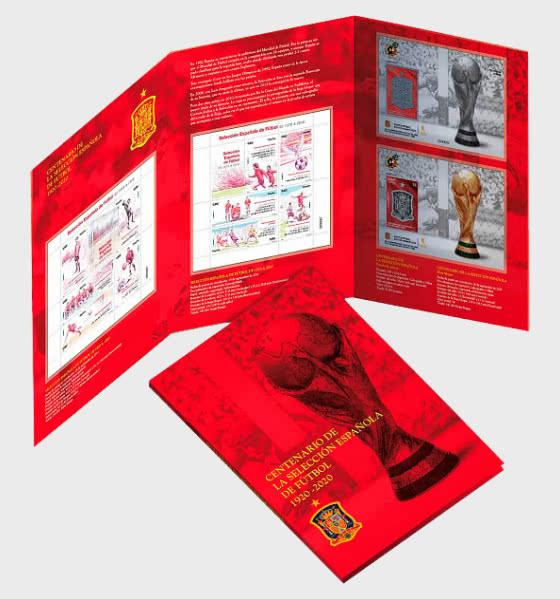 20% DISCOUNT - Centennial of the Spanish National Football Team Folder! - Collectibles