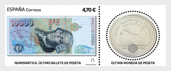 Numismatics - The Last Pesta Banknote and Coin - Mint - Set