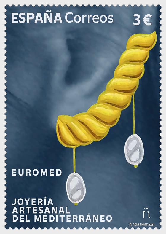 Euromed 2021 - 地中海的手工珠宝 - 套票