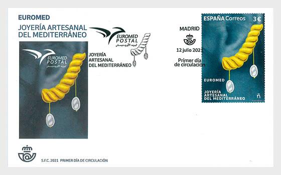 Euromed 2021 - Bijoux Artisanaux En Méditerranée - Enveloppes de Premier Jour