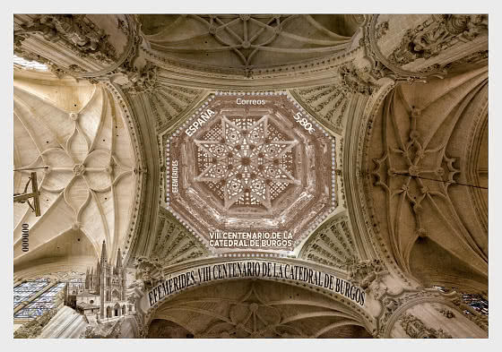 VIII Centenary Of The Cathedral Of Burgos - CTO - Miniature Sheet CTO