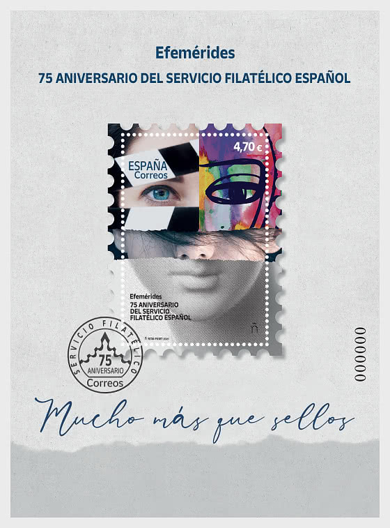 75e Anniversaire Du Service Philatélique Espagnol - Blocs feuillets