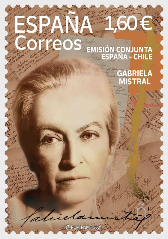 Emission conjointe Espagne-Chili - Gabriela Mistral - Séries
