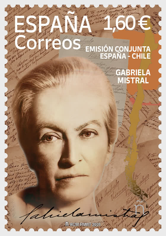 Joint Issue Spain-Chile - Gabriela Mistral - Set CTO