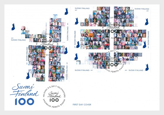 The Face of Finland - First Day Cover