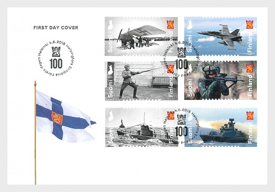 Defence Forces 100 Years - First Day Cover