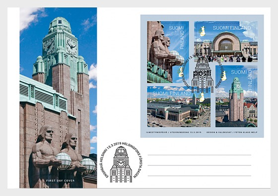 Helsinki Central Station - First Day Cover