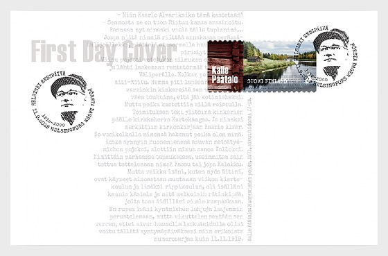 Kalle Paatalo 100 Years - First Day Cover