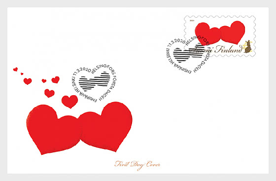 Two Hearts - First Day Cover