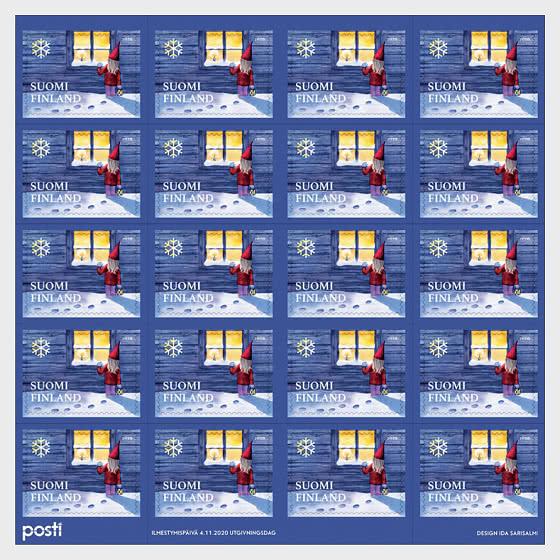 Village Elf -20 Christmas Stamps - Stamp Booklet