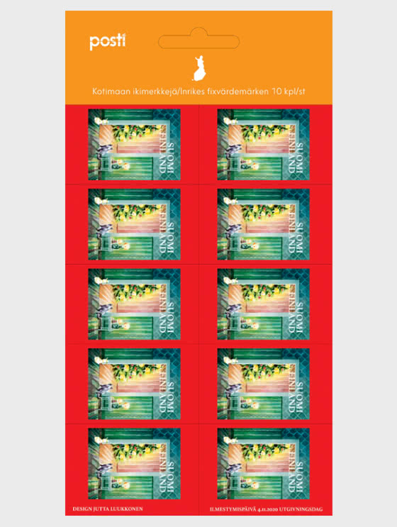 Christmas Cottage - 10 Domestic Stamps - Sheetlets